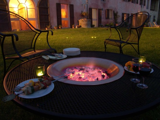 BBQ at Cascina rosa b&b, bed and breakfast in Monferrato