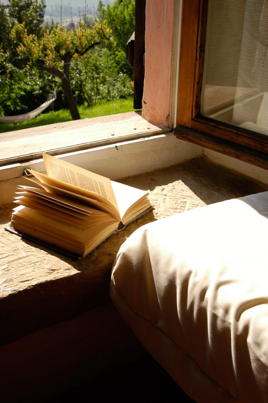 Book and hammock on background - Cascina rosa b&b