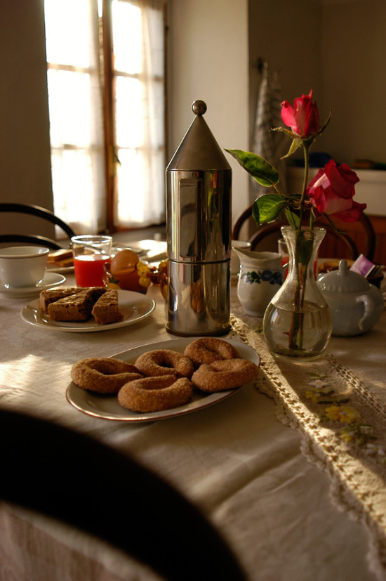 Breakfast at Cascina rosa b&b in Monferrato