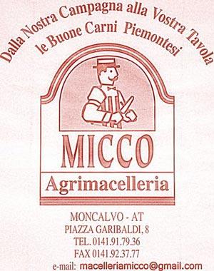 Agrimacelleria Micco a Moncalvo, pochi chilometri da Cascina rosa b&b